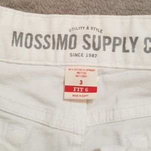 Mossimo Supply Co. Shorts - Massimo white shorts size 3 with frayed ends